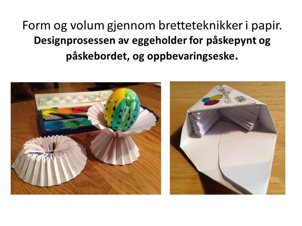Form og volum gjennom bretteteknikker i papir