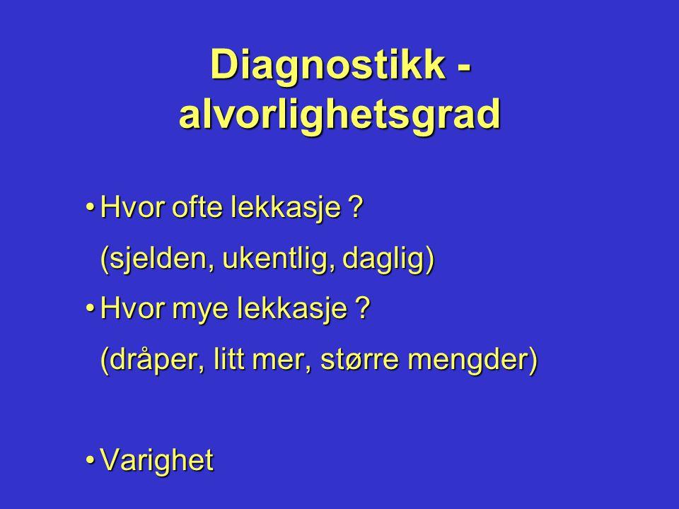 Diagnostikk - alvorlighetsgrad
