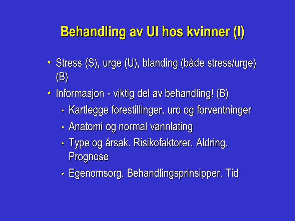 Behandling av UI hos kvinner (I)