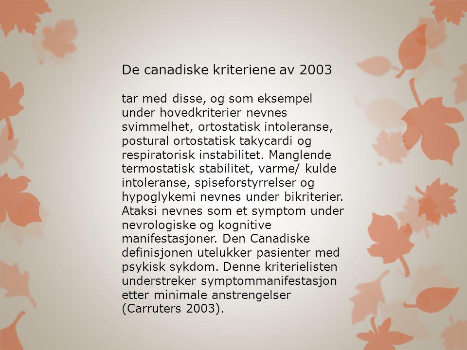 De canadiske kriteriene av 2003
