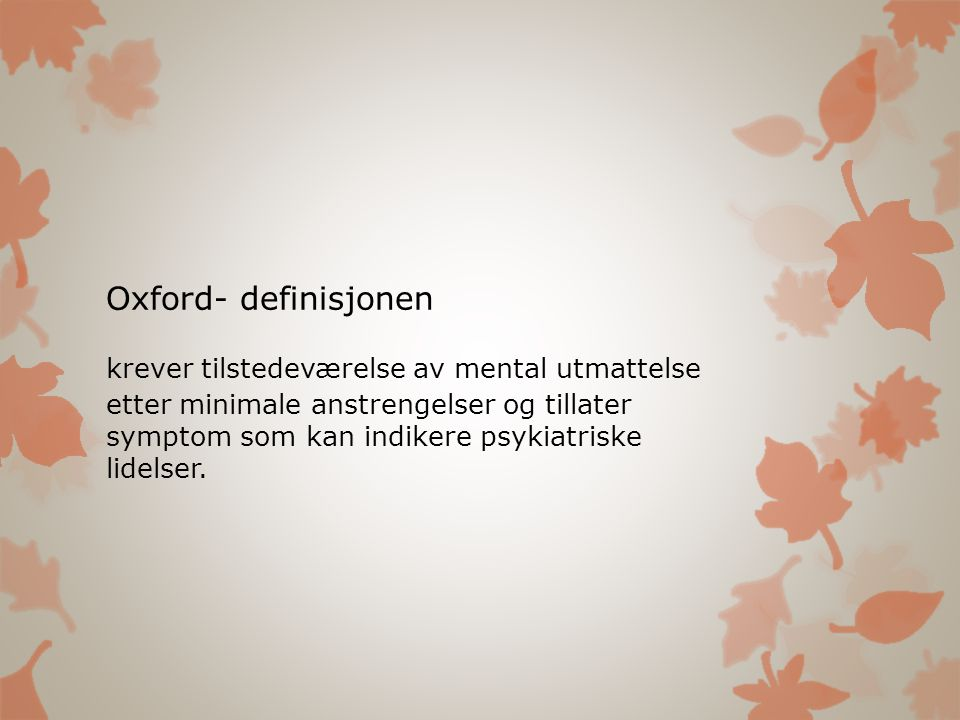 Oxford- definisjonen