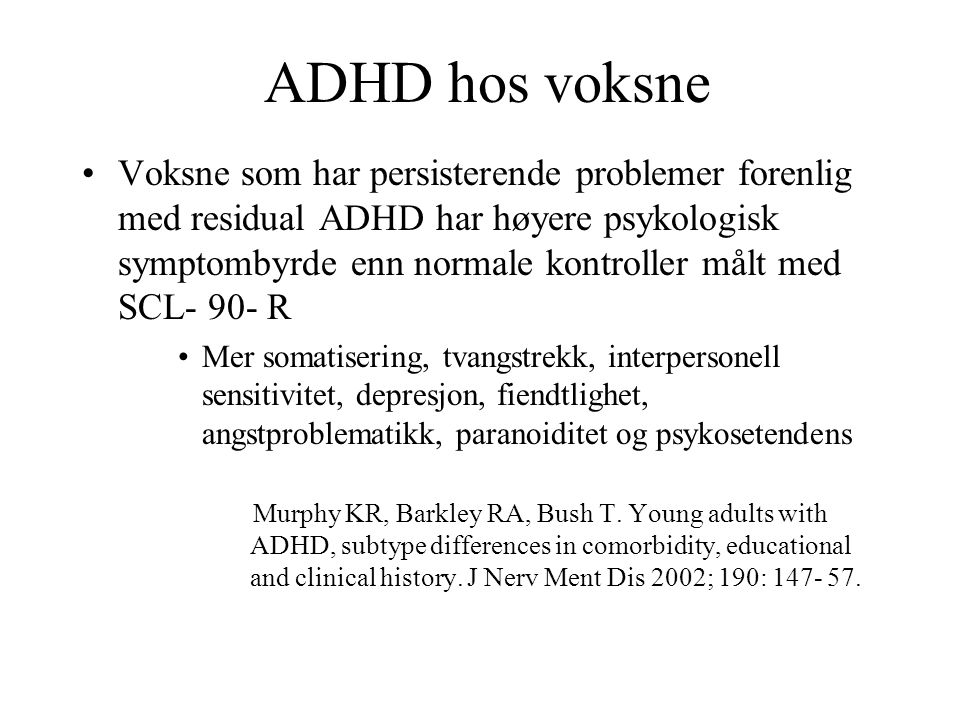 ADHD hos voksne