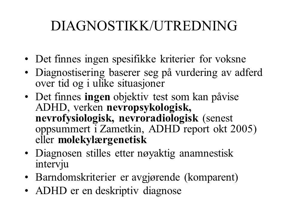 DIAGNOSTIKK/UTREDNING