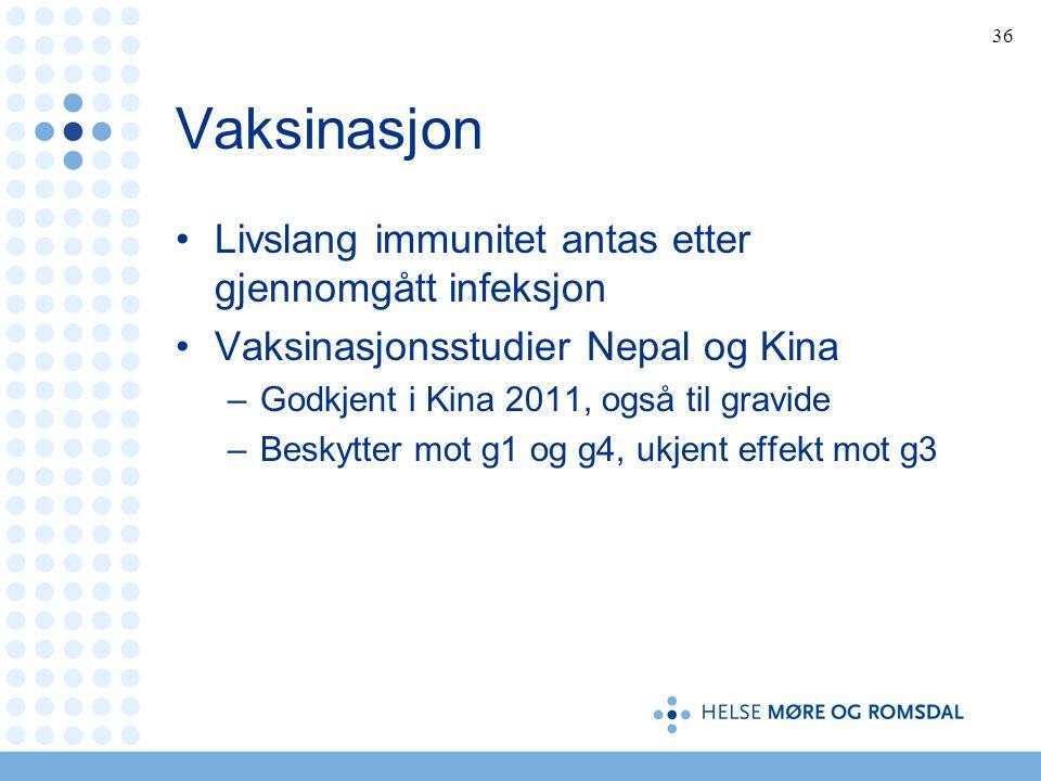 Vaksinasjon Livslang immunitet antas etter gjennomgått infeksjon