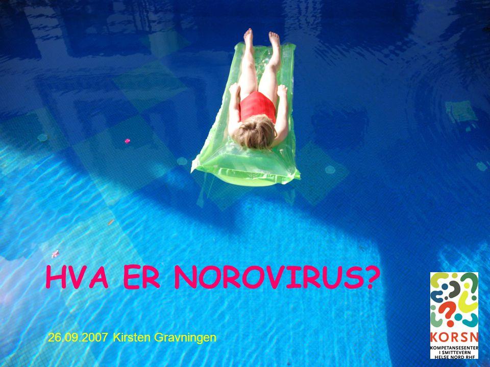 HVA ER NOROVIRUS 26.09.2007 Kirsten Gravningen Bodø 26.09.2007