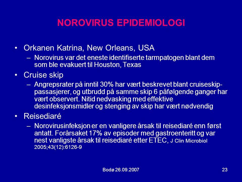 NOROVIRUS EPIDEMIOLOGI