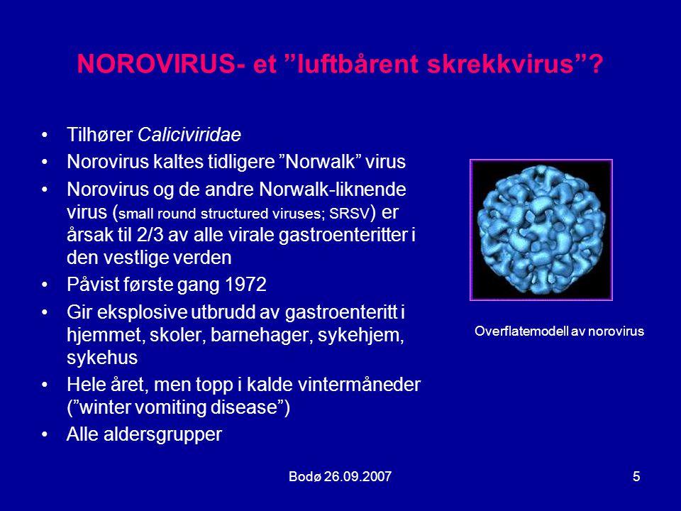 NOROVIRUS- et luftbårent skrekkvirus