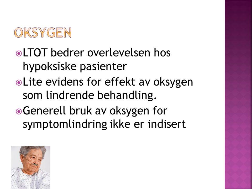 Oksygen LTOT bedrer overlevelsen hos hypoksiske pasienter