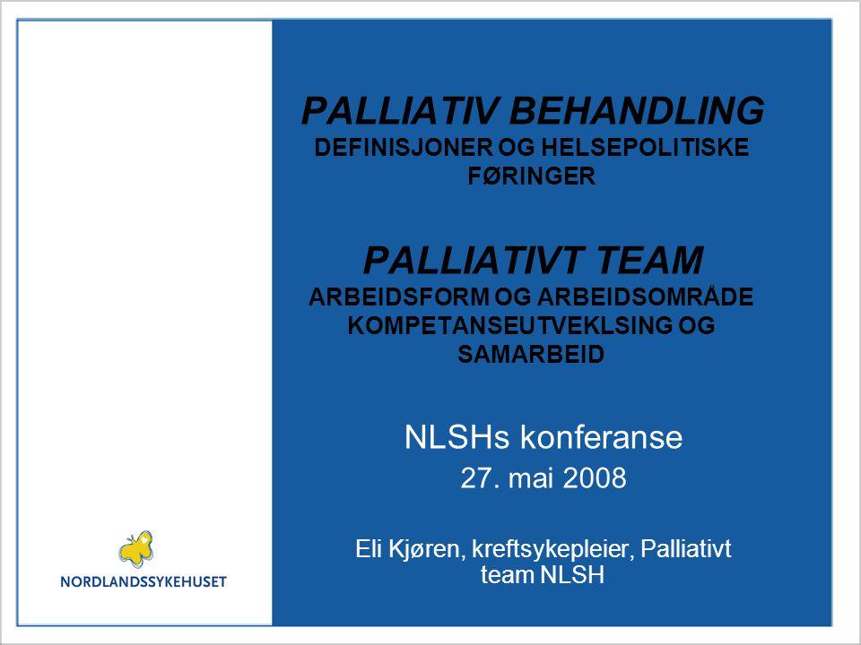 Eli Kjøren, kreftsykepleier, Palliativt team NLSH