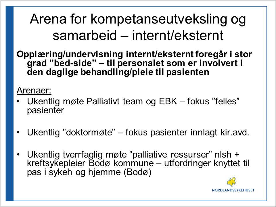 Arena for kompetanseutveksling og samarbeid – internt/eksternt