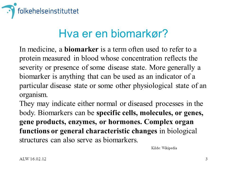 Hva er en biomarkør