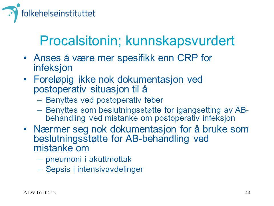 Procalsitonin; kunnskapsvurdert