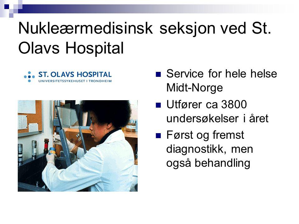 Nukleærmedisinsk seksjon ved St. Olavs Hospital