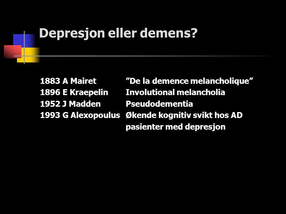 Depresjon eller demens