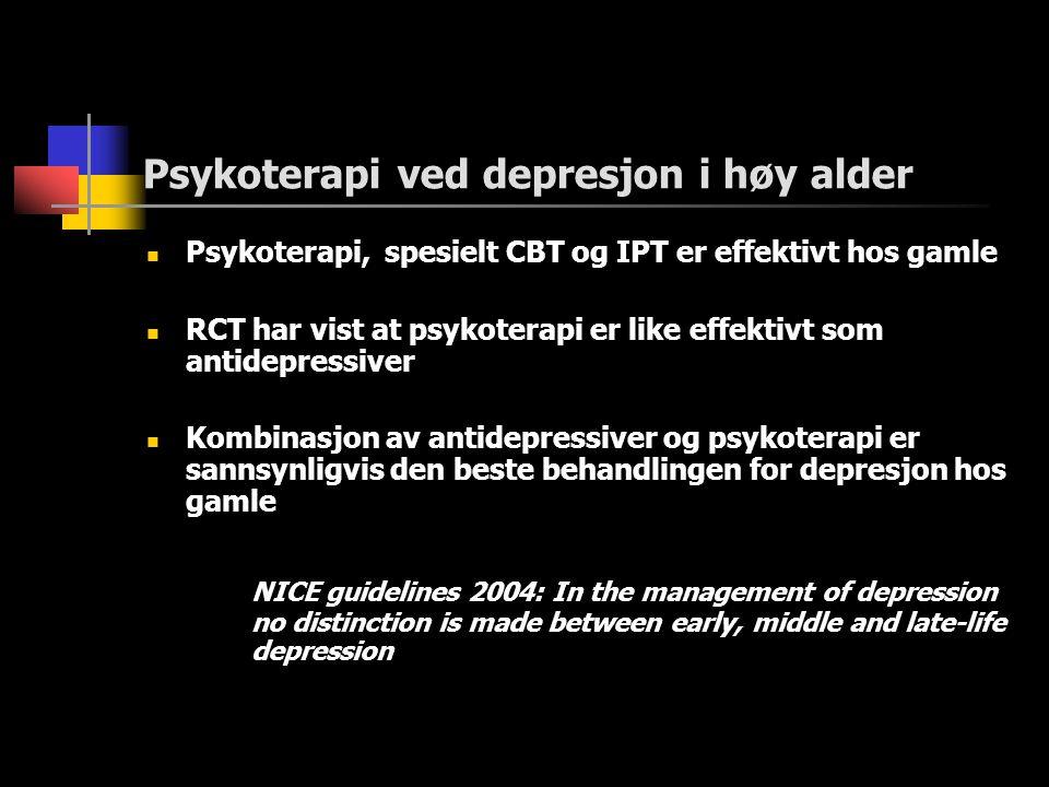 Psykoterapi ved depresjon i høy alder