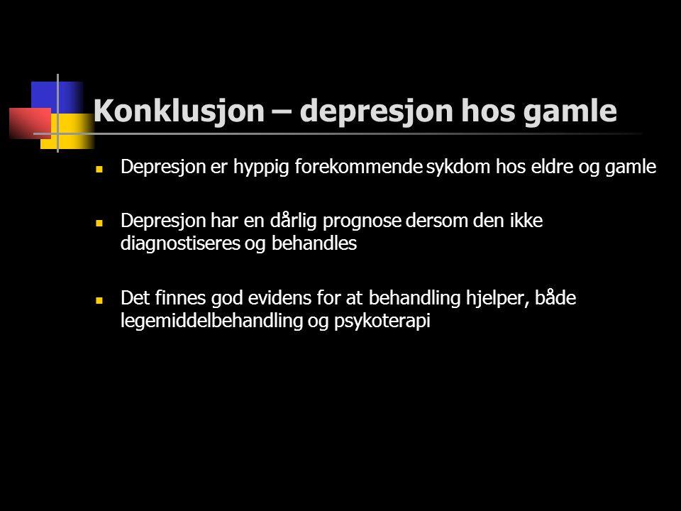 Konklusjon – depresjon hos gamle