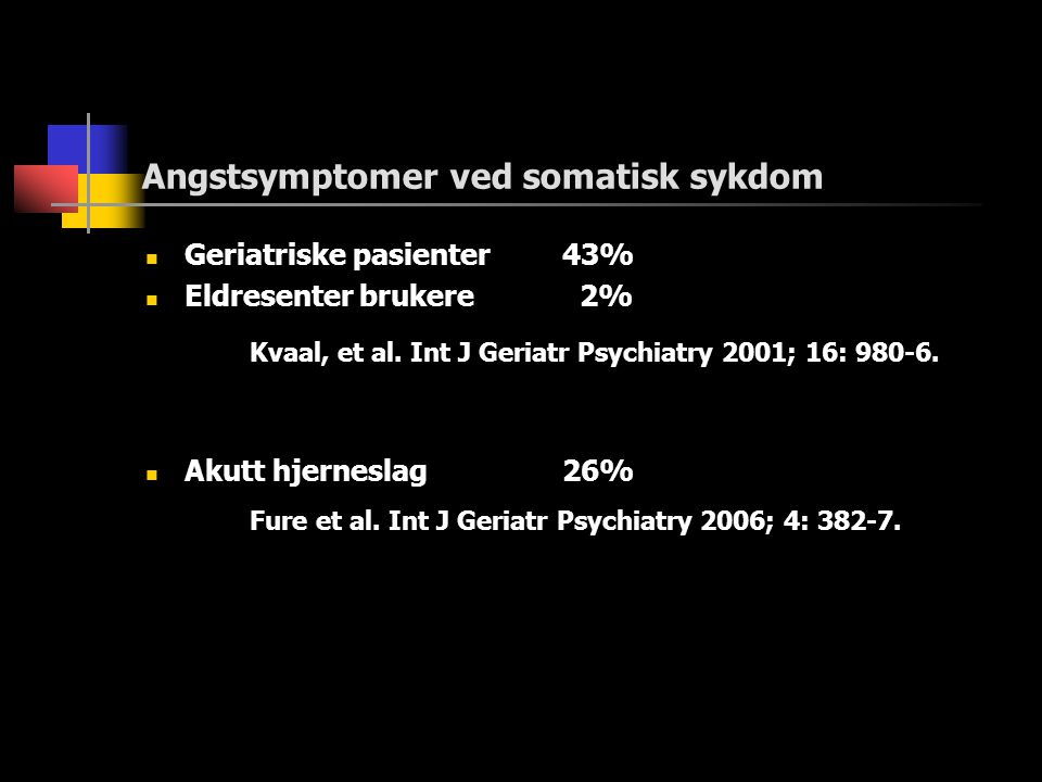 Angstsymptomer ved somatisk sykdom