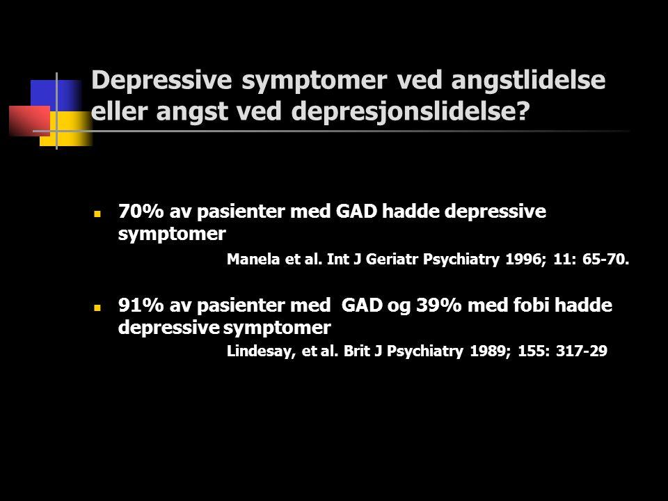 Depressive symptomer ved angstlidelse eller angst ved depresjonslidelse