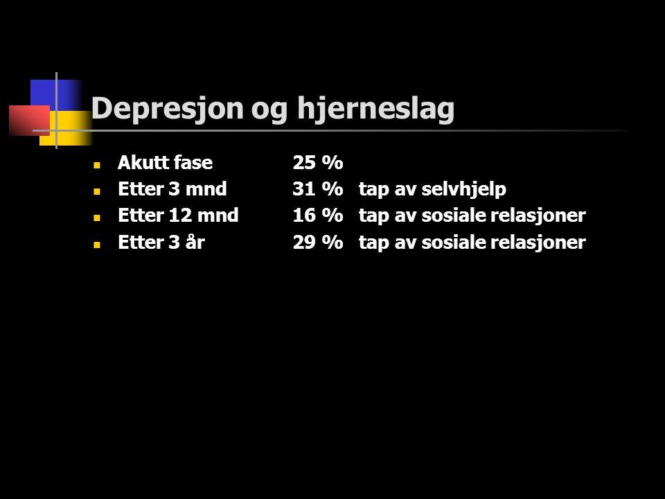 Depresjon og hjerneslag