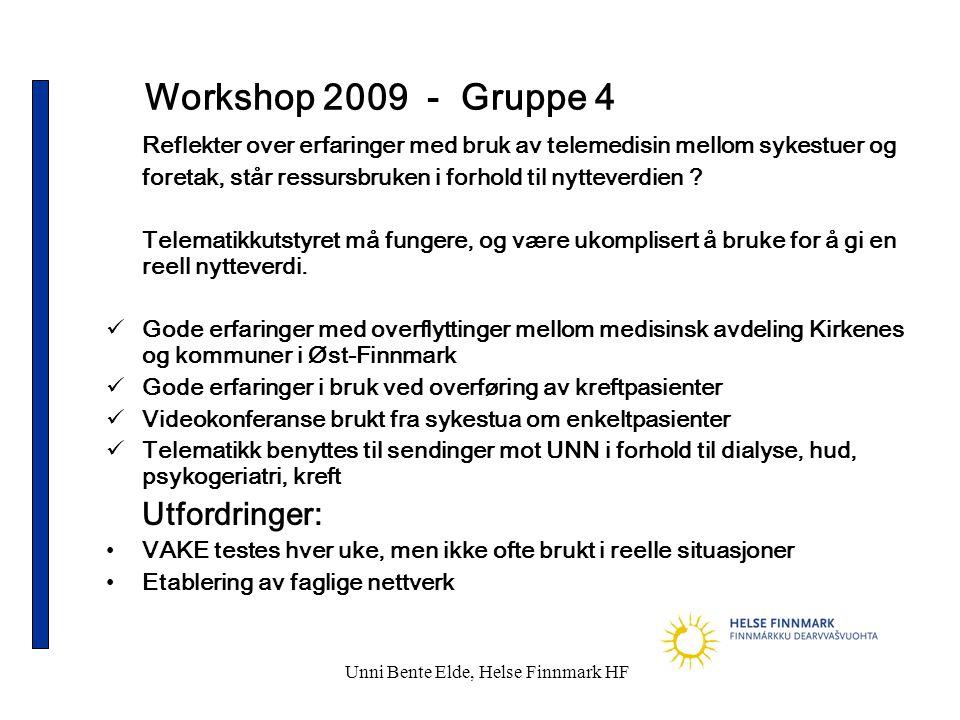 Unni Bente Elde, Helse Finnmark HF
