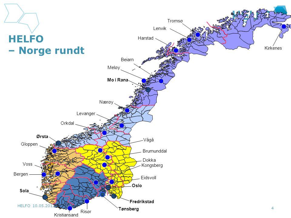 HELFO – Norge rundt Tromsø Lenvik Harstad Kirkenes Beiarn Meløy