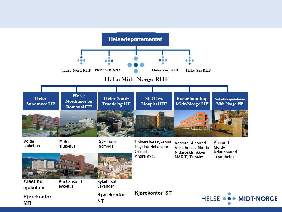 Helse Midt-Norge RHF Helsedepartementet Kjørekontor ST