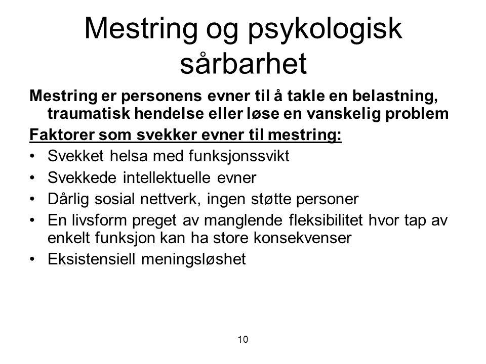 Mestring og psykologisk sårbarhet