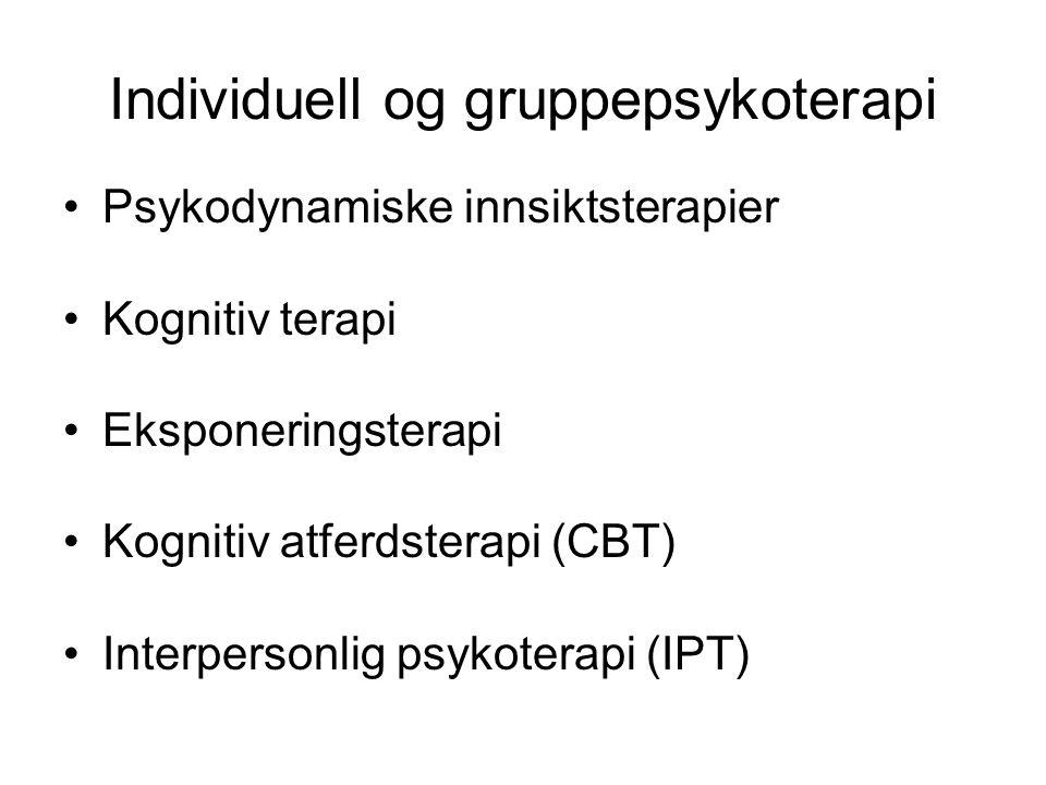 Individuell og gruppepsykoterapi