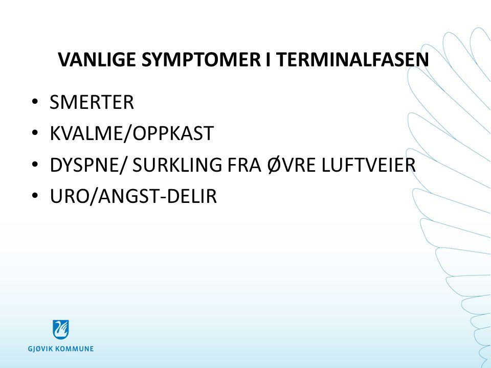 VANLIGE SYMPTOMER I TERMINALFASEN