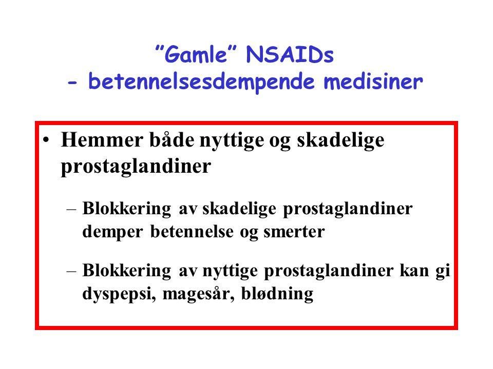 Gamle NSAIDs - betennelsesdempende medisiner
