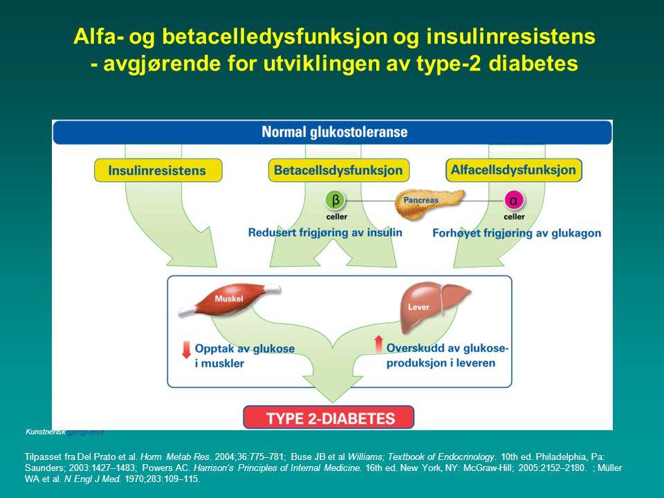Alfa- og betacelledysfunksjon og insulinresistens