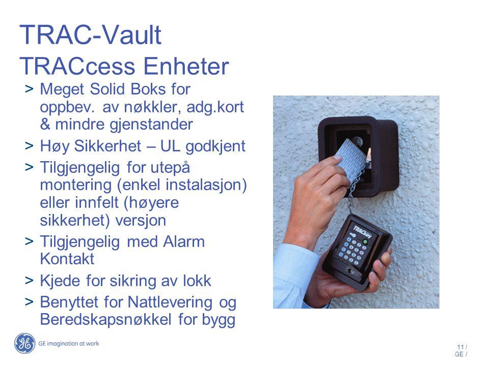 TRAC-Vault TRACcess Enheter