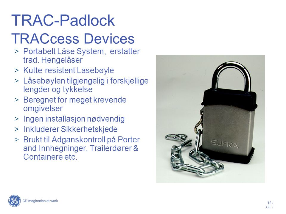 TRAC-Padlock TRACcess Devices