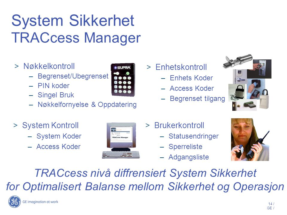 System Sikkerhet TRACcess Manager