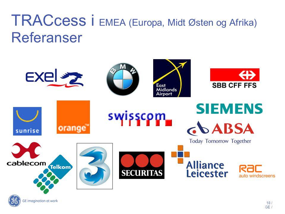 TRACcess i EMEA (Europa, Midt Østen og Afrika) Referanser