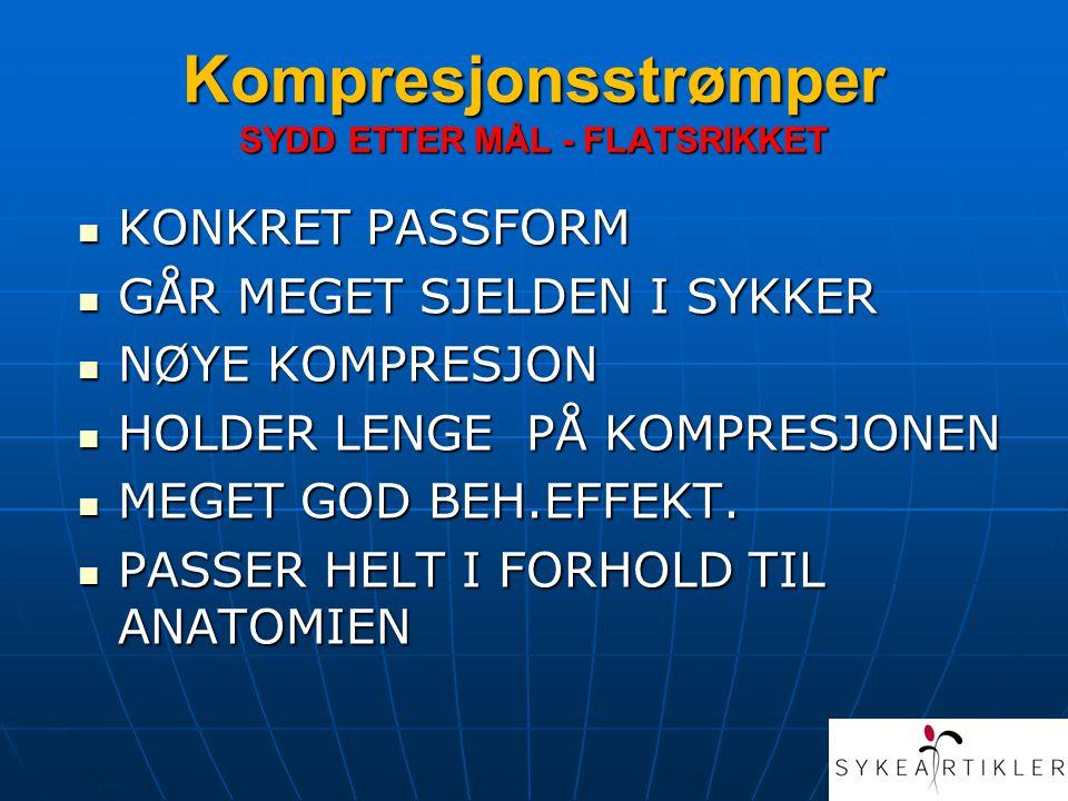 Kompresjonsstrømper SYDD ETTER MÅL - FLATSRIKKET