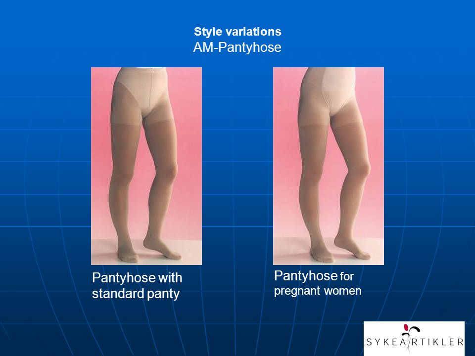 Pantyhose with standard panty Pantyhose for pregnant women