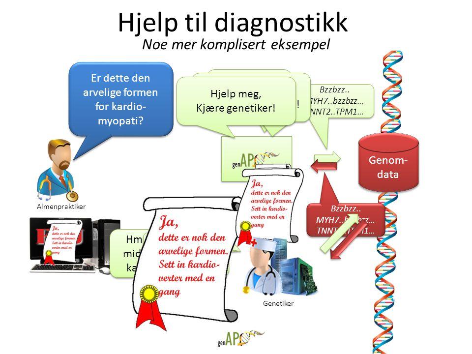 Hjelp til diagnostikk Noe mer komplisert eksempel