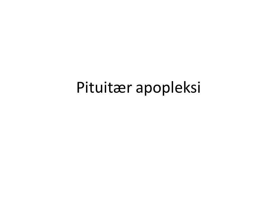 Pituitær apopleksi