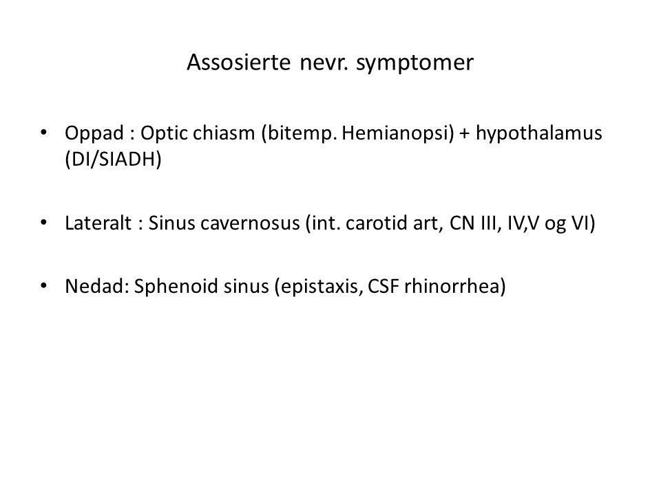 Assosierte nevr. symptomer
