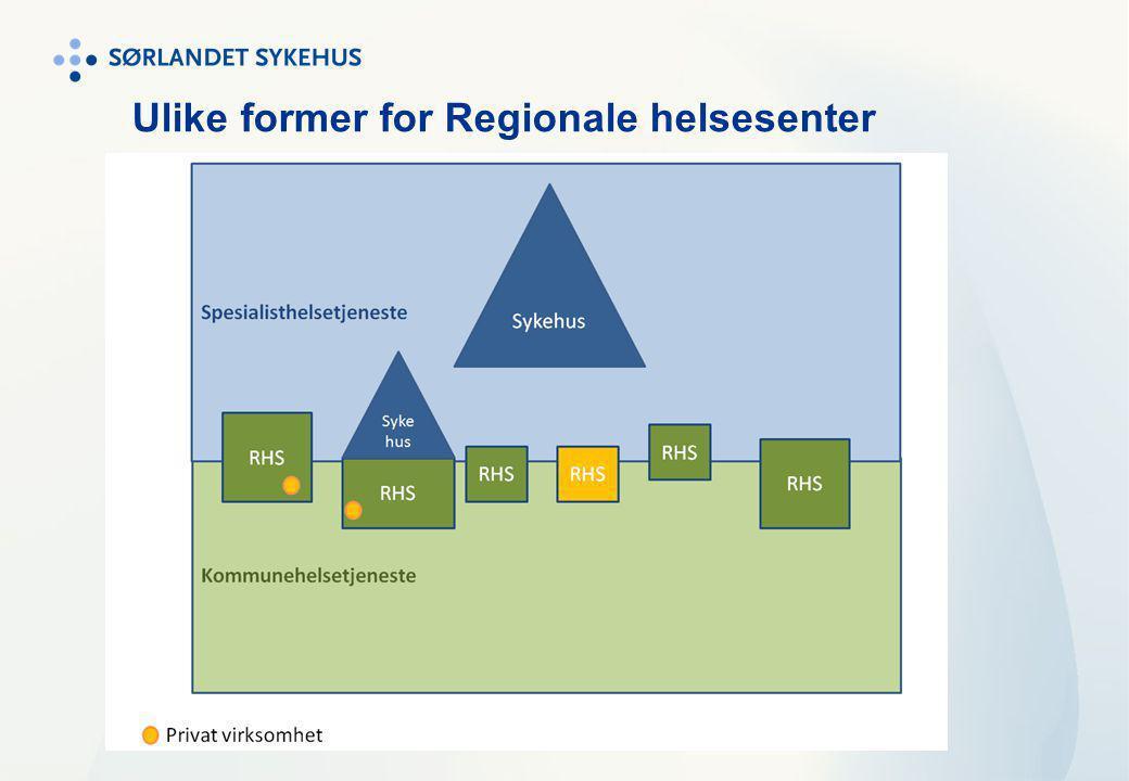 Ulike former for Regionale helsesenter