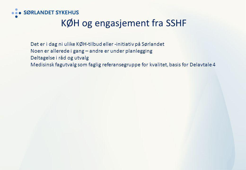 KØH og engasjement fra SSHF