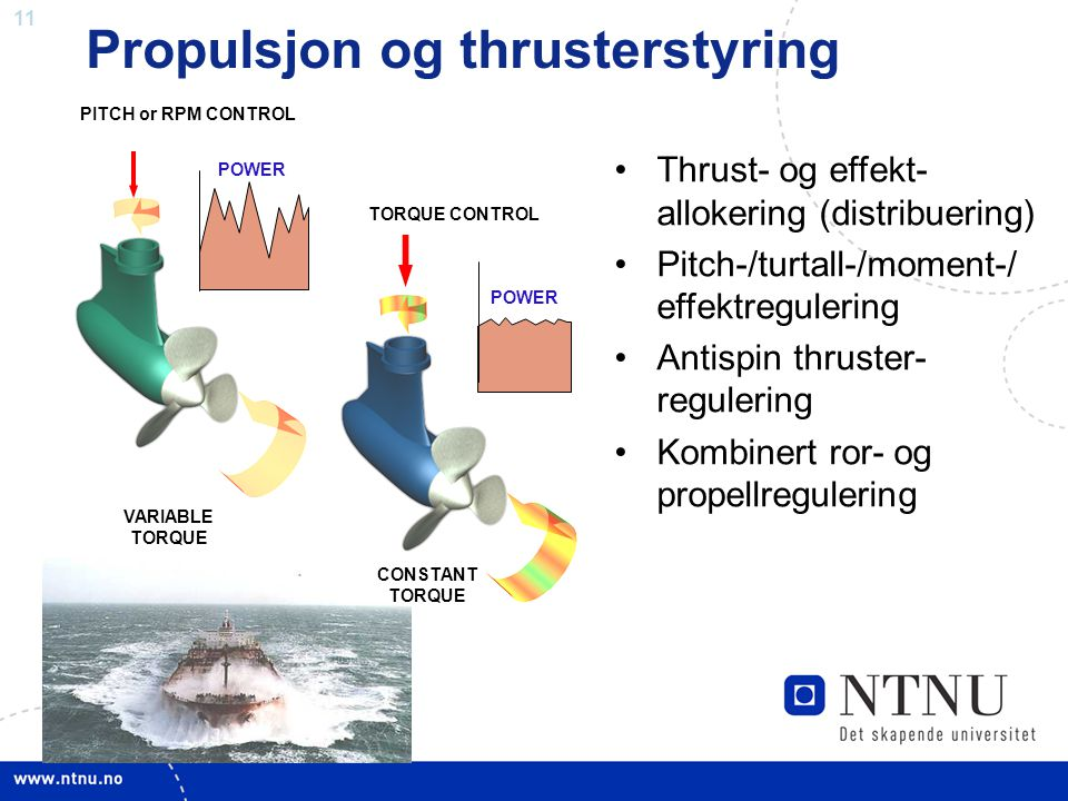 Propulsjon og thrusterstyring