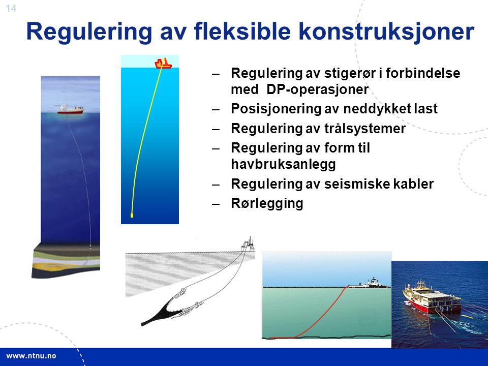 Regulering av fleksible konstruksjoner