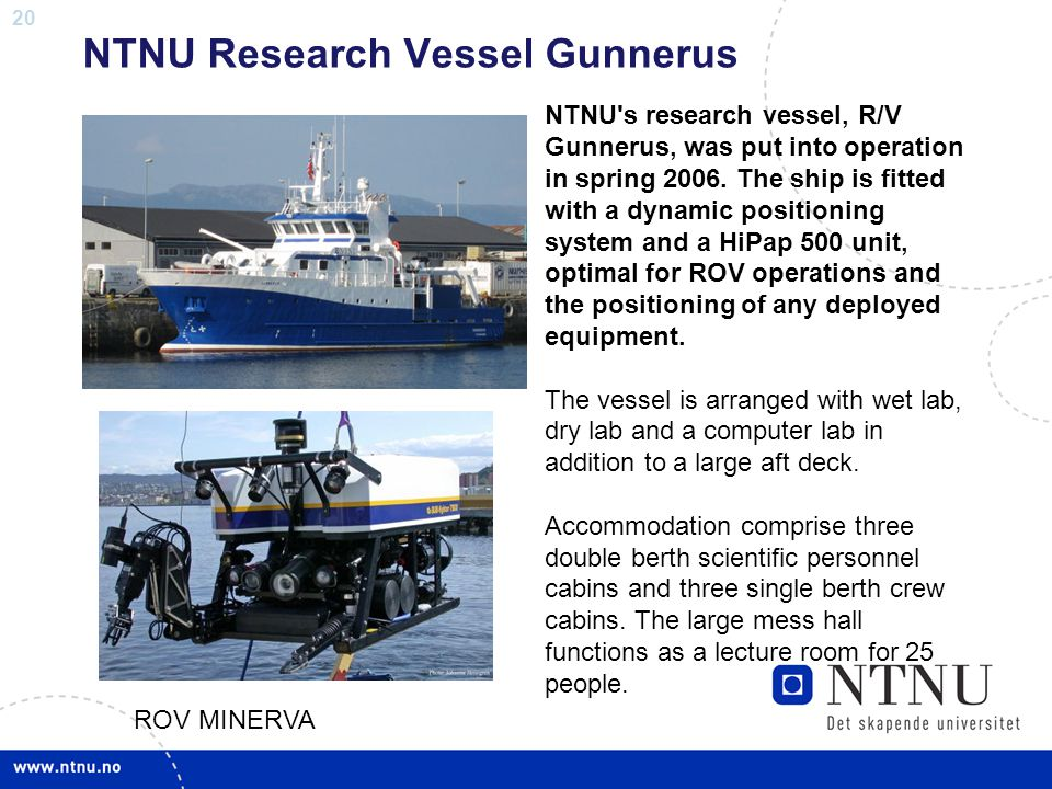 NTNU Research Vessel Gunnerus