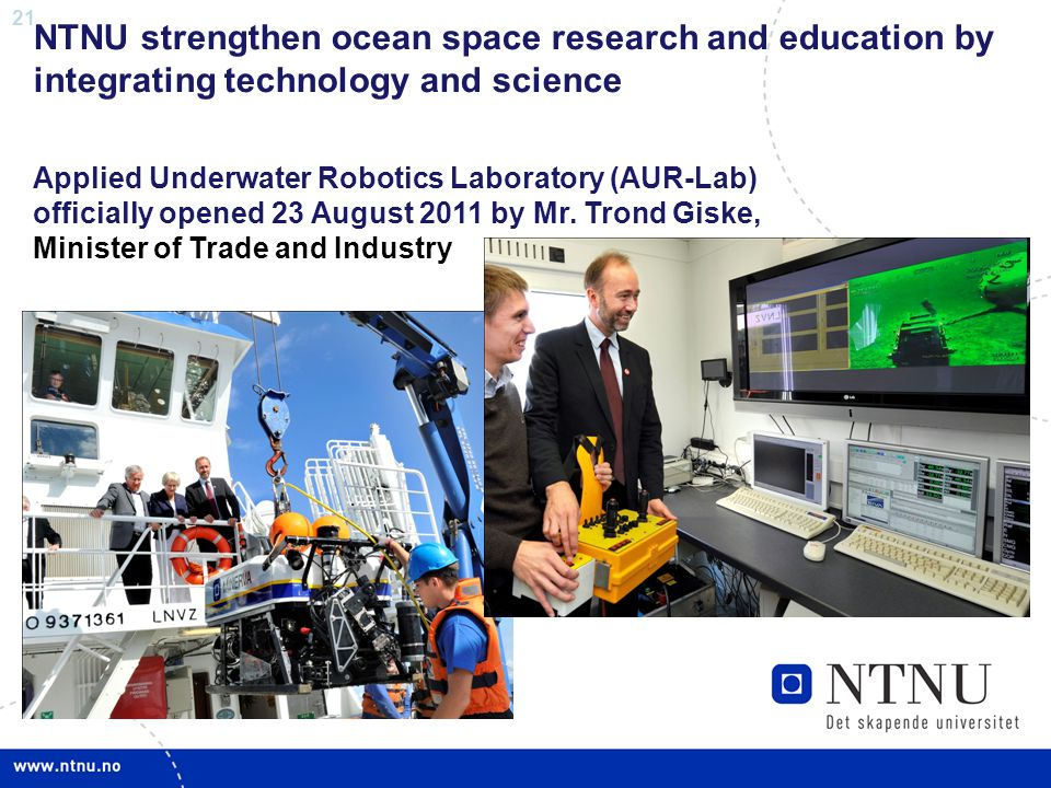 NTNU strengthen ocean space research and education by integrating technology and science
