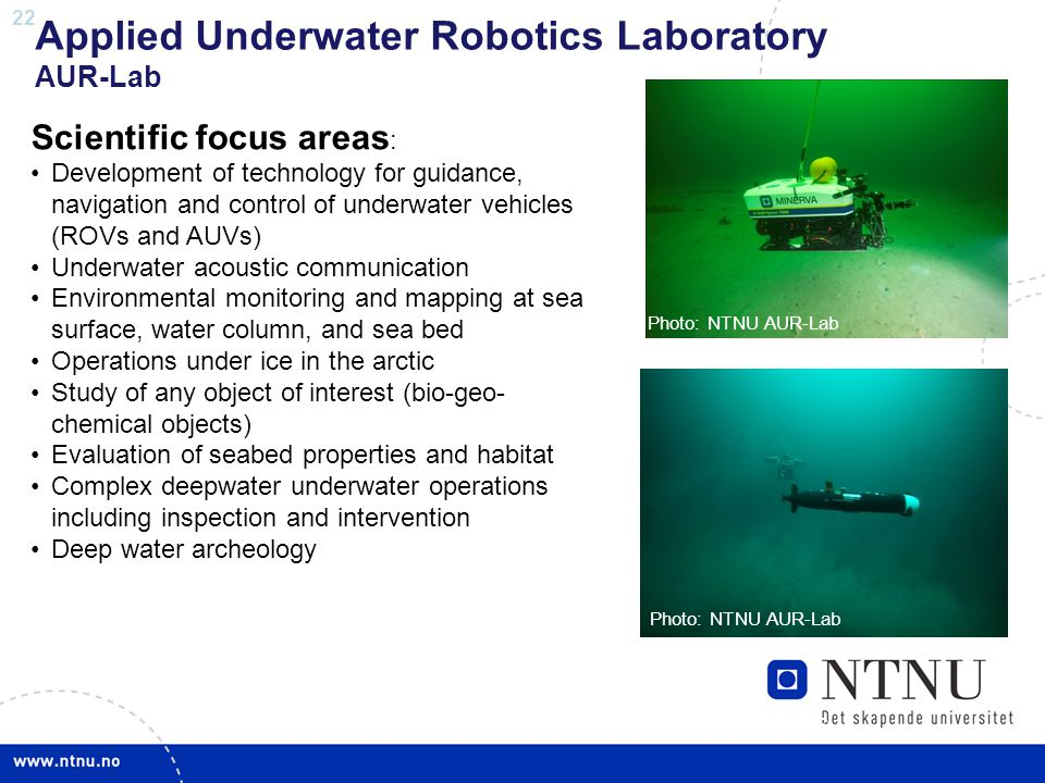 Applied Underwater Robotics Laboratory AUR-Lab