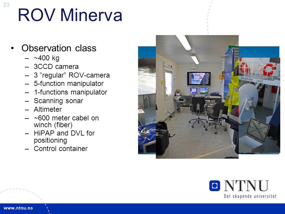 ROV Minerva Observation class ~400 kg 3CCD camera