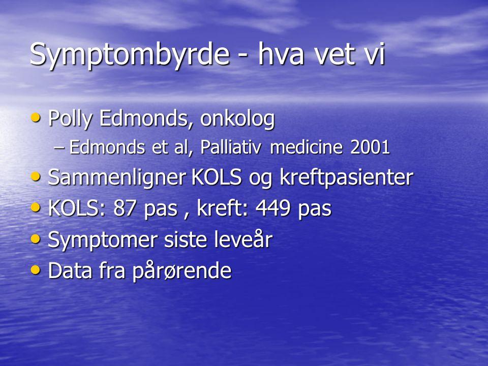 Symptombyrde - hva vet vi