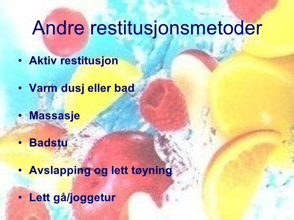Andre restitusjonsmetoder